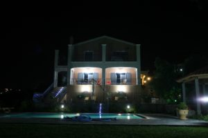 27 House and Pool at night
