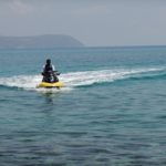 35 Jet Skiing -  Spartia Beach with Zante in background